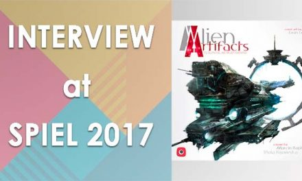 Board game interview: Alien Artifacts at Spiel 2017