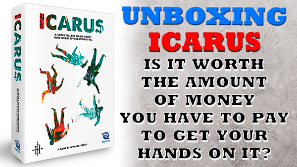Icarus, from Renegade Game Studios unboxing
