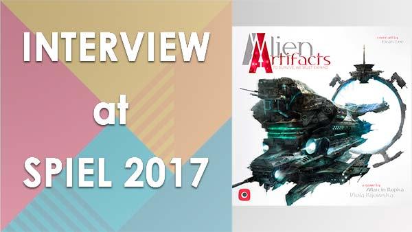 Board game interview: Alien Artifacts at Spiel 2017