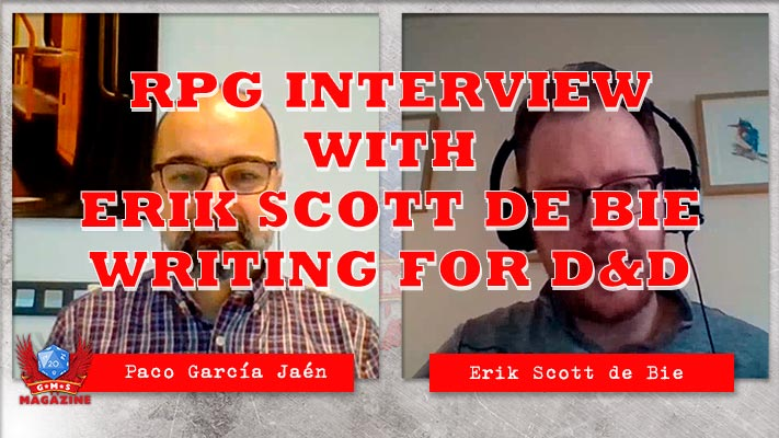 🐲 RPG Interview Erik Scott de Bie: How to write novels from D&D. 🐲 All the secrets revealed!
